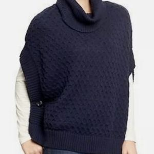Old Navy Womens Navy Blue Cowl Turtleneck Sweater